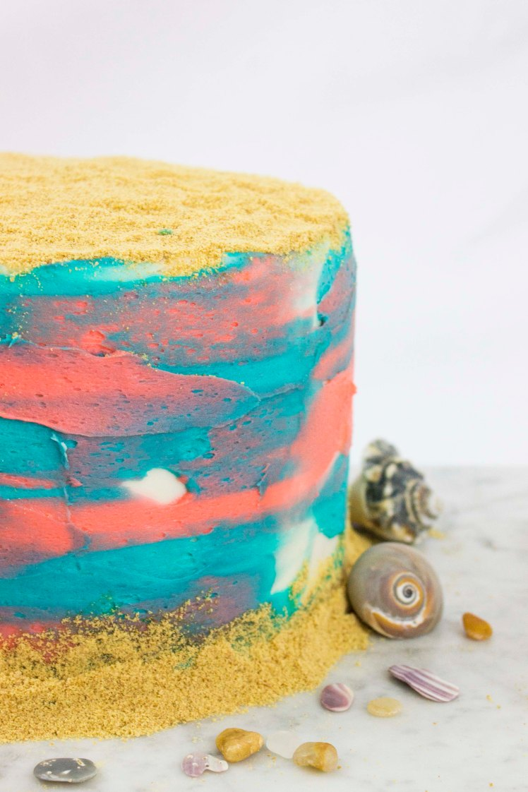 Beach Inspired Cake-2