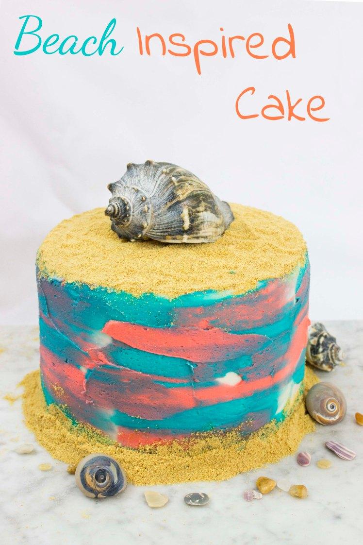 Beach Inspired Instagram Cake- Pinterest Cake