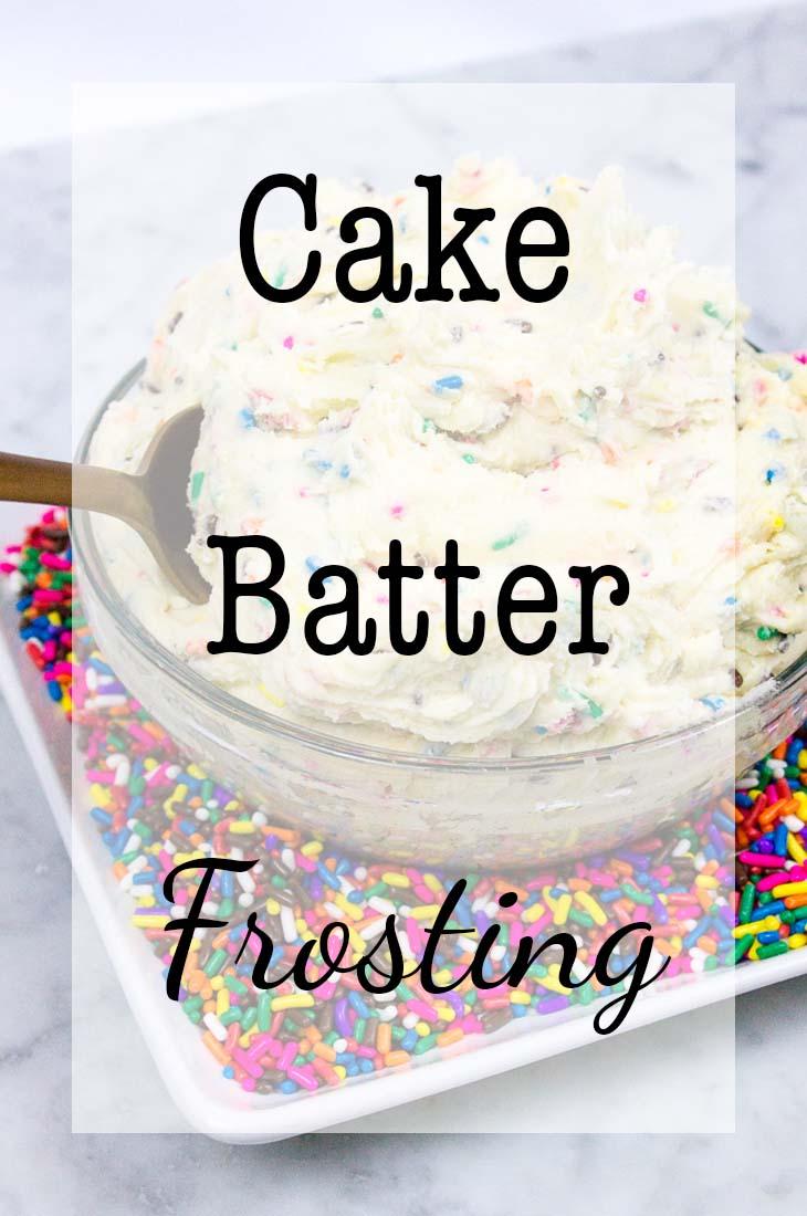 Cake Batter Frosting-Pinterest