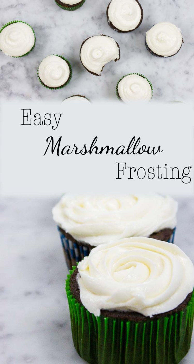 Easy Marshmallow Frosting-Pinterest