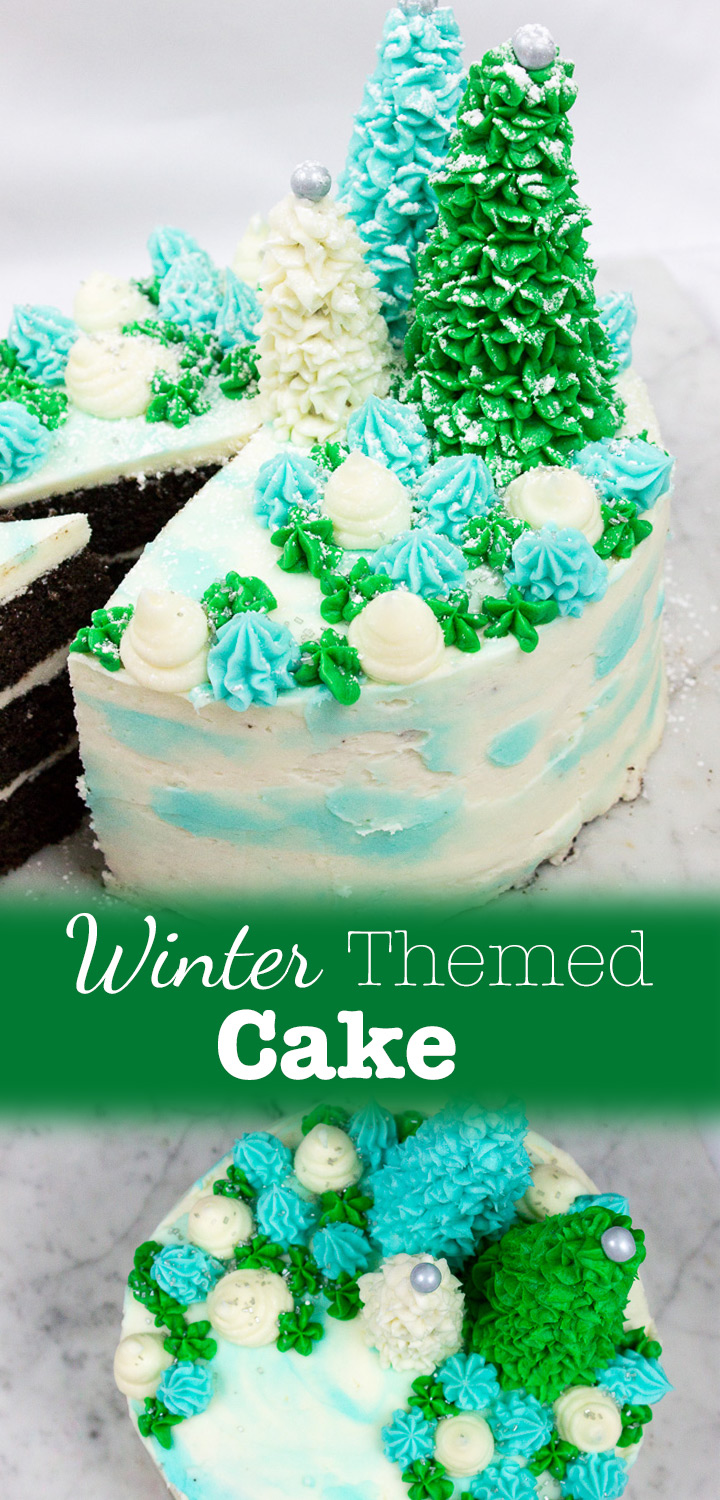 Winter Cake Pinterest Image